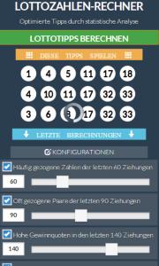 lottozahlen rechner app screenshot