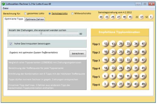 Kugel mit Lottozahlen-Generator-Website