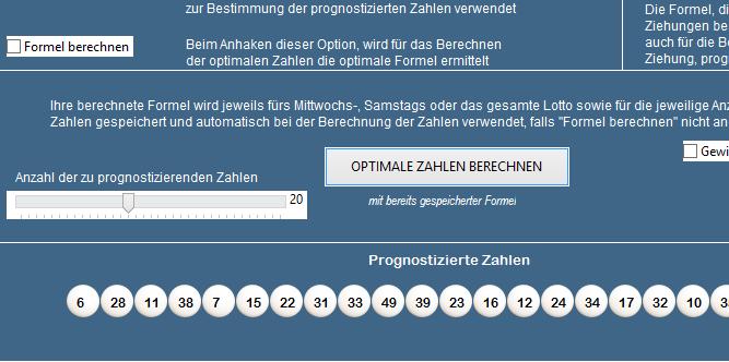 Berechnung optimierter Zahlen